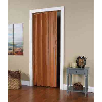 Spectrum Via 24 In. to 36 In. W. x 80 In. H. Fruitwood Accordion Folding Door