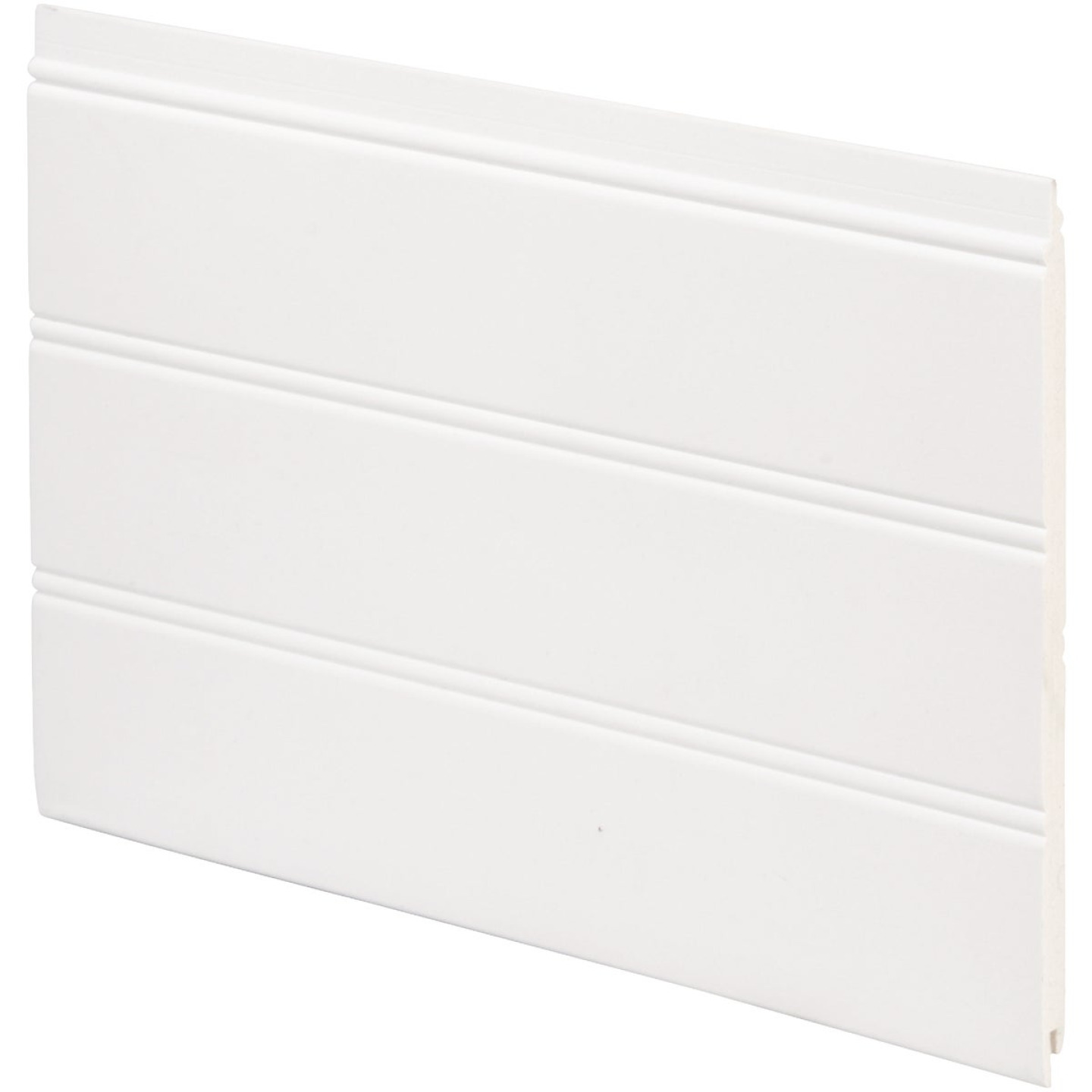 Inteplast Building Products 7-1/2 In. x 1/4 In. H. x 34 In. L. White PVC Reversible Beaded Wainscot Kit (6-Pack) Image 1