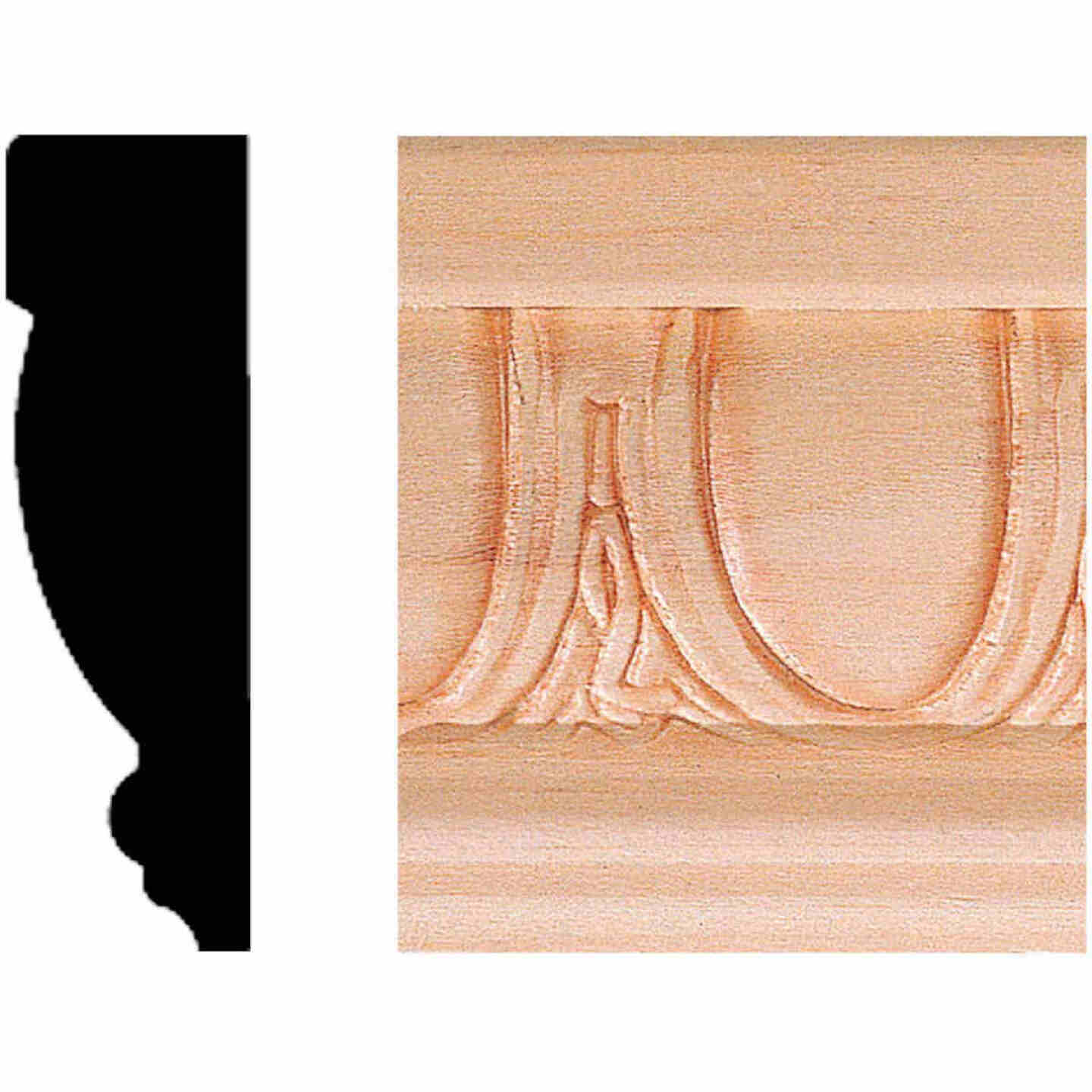 House of Fara 13/16 In. W. x 2-1/2 In. H. x 8 Ft. L. Hardwood Scrolled Decorative Chair Rail Molding Image 1