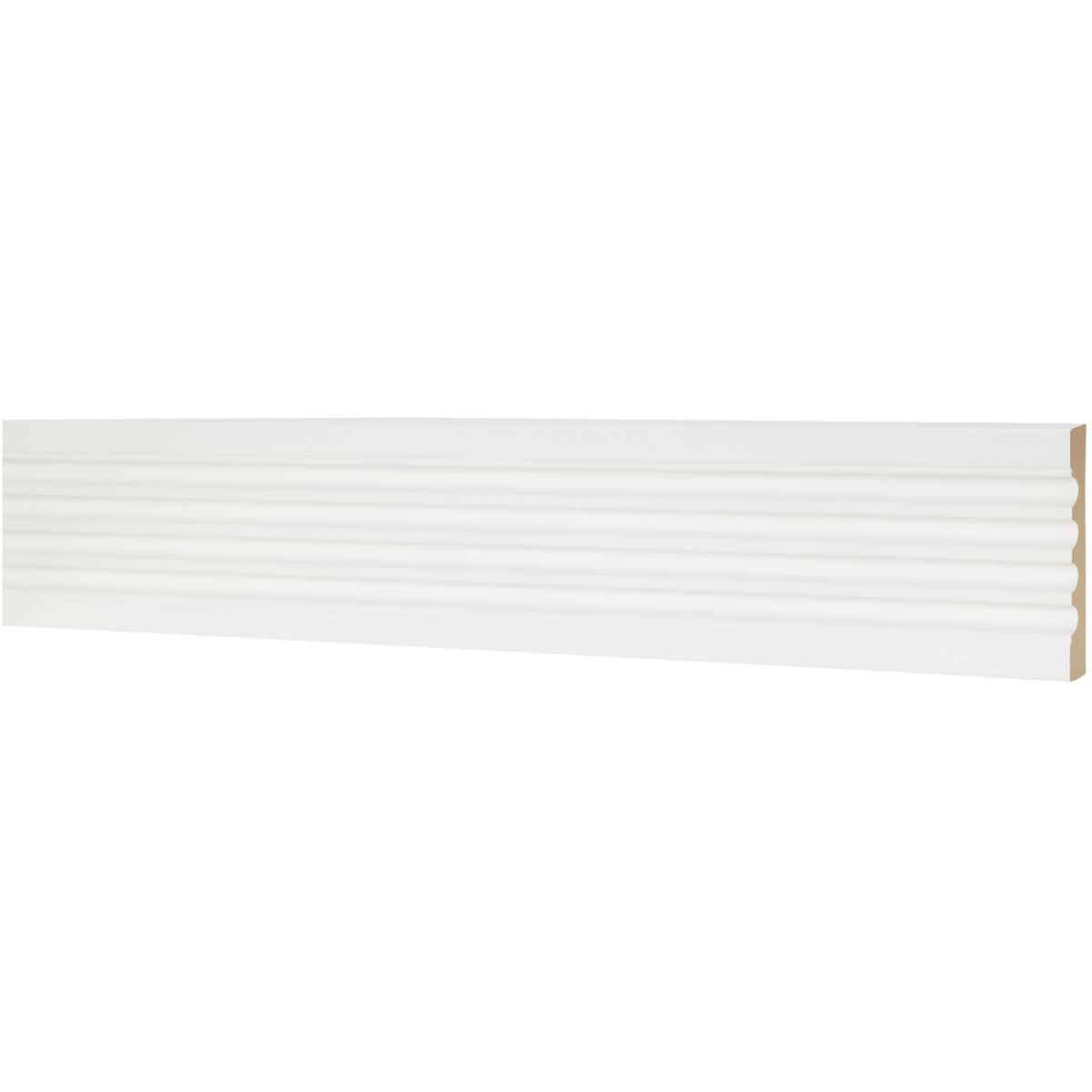 House of Fara 3/4 In. W. x 5-1/4 In. H. x 8 Ft. L. White MDF Fluted Casing Molding Image 2