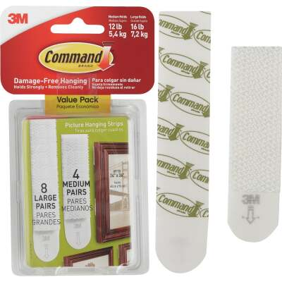 3M Command Assorted Picture Hanging Strips Value Pack