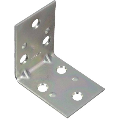 National Catalog V121 2 In. x 1-1/2 In. Double Wide Zinc Corner Brace