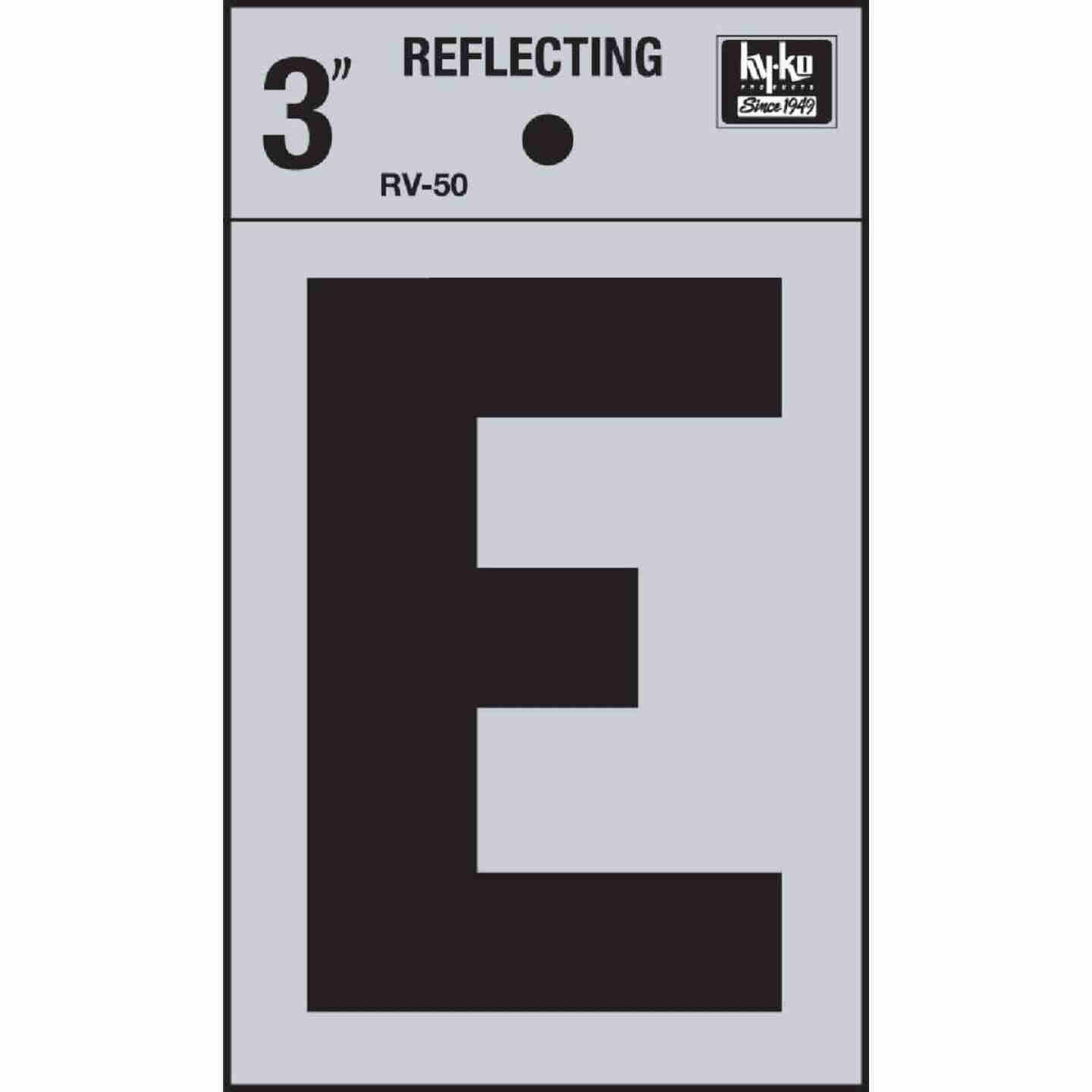 Hy-Ko Vinyl 3 In. Reflective Adhesive Letter, E Image 1