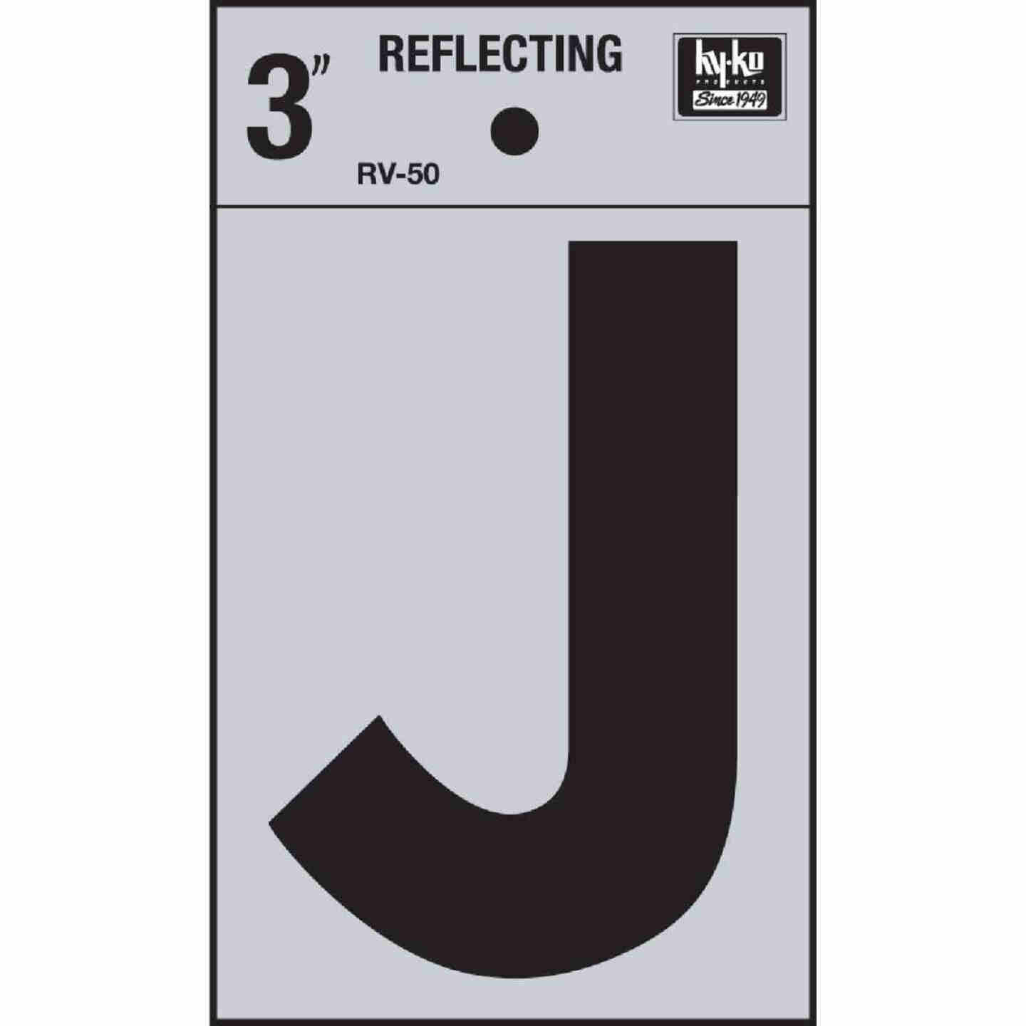 Hy-Ko Vinyl 3 In. Reflective Adhesive Letter, J Image 1