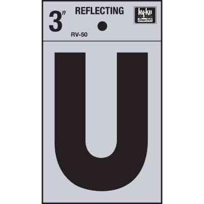 Hy-Ko Vinyl 3 In. Reflective Adhesive Letter, U