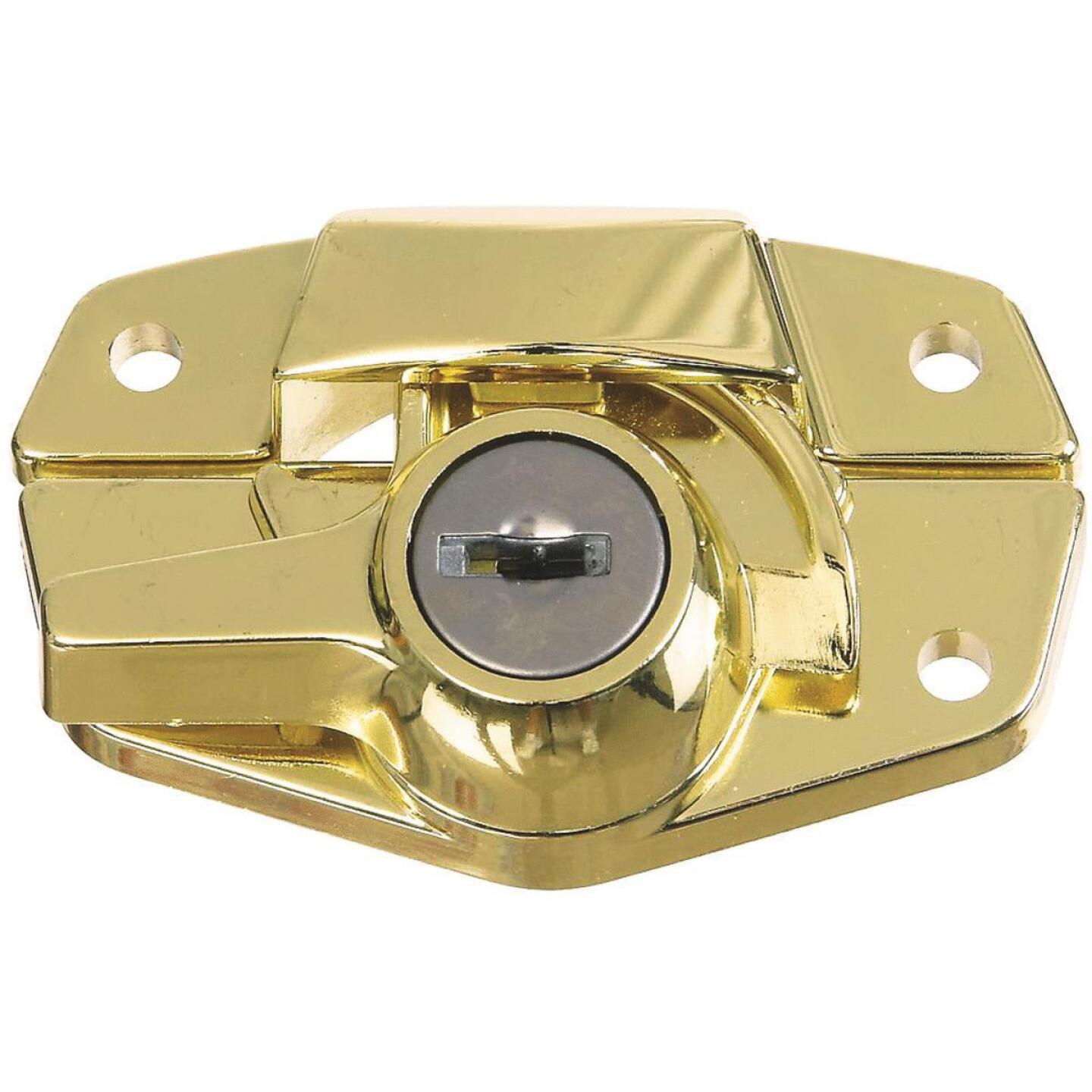 National Brass Finished Die-Cast Sash Lock Image 1