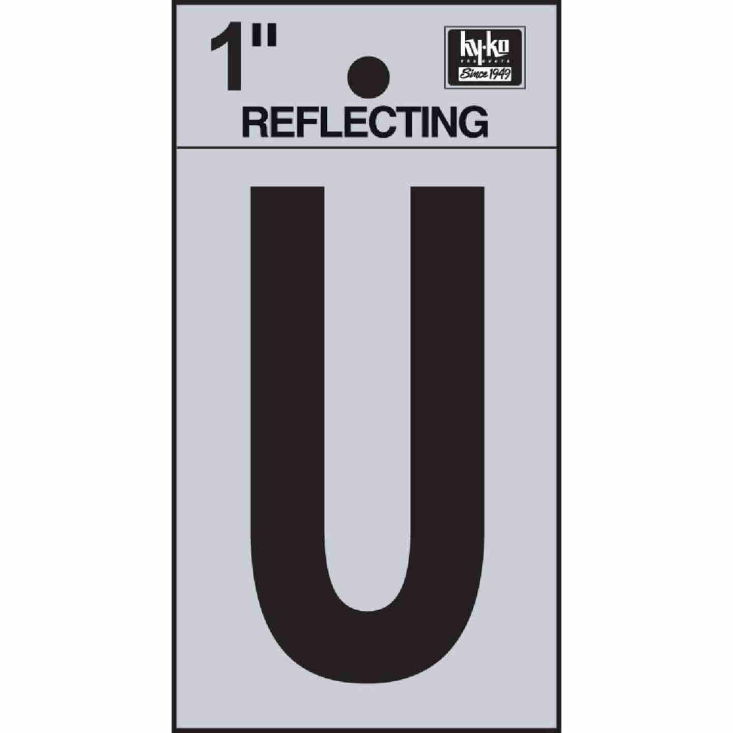 Hy-Ko Vinyl 1 In. Reflective Adhesive Letter, U Image 1