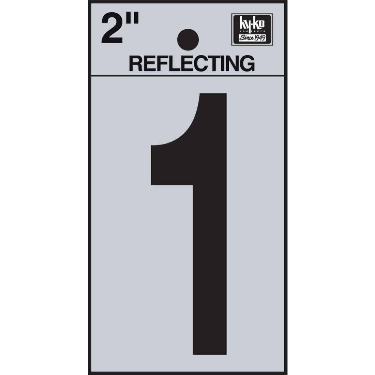 Hy-Ko Vinyl 2 In. Reflective Adhesive Number One Image 1