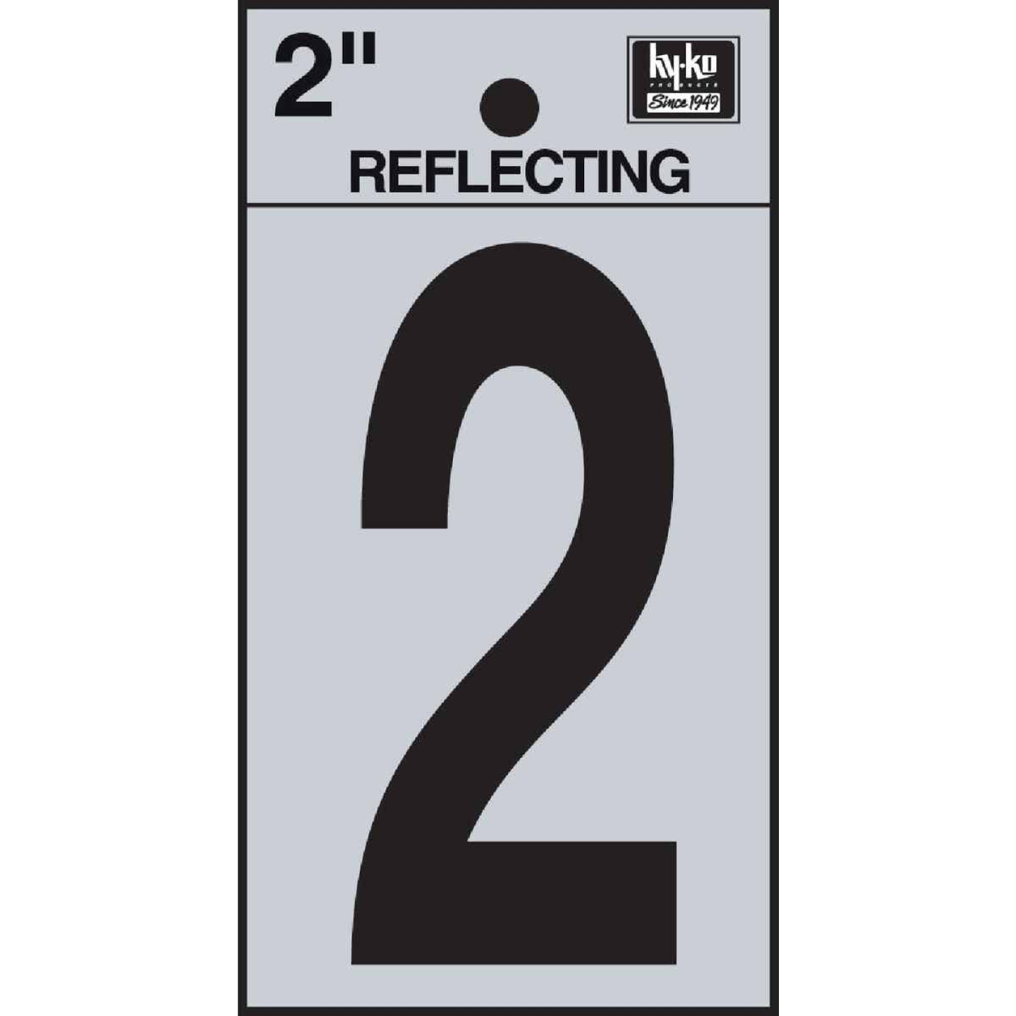 Hy-Ko Vinyl 2 In. Reflective Adhesive Number Two Image 1