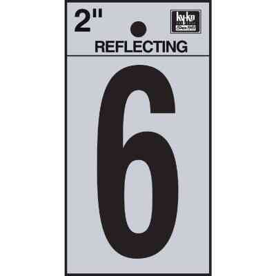 Hy-Ko Vinyl 2 In. Reflective Adhesive Number Six