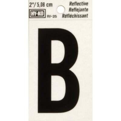 Hy-Ko Vinyl 2 In. Reflective Adhesive Letter, B