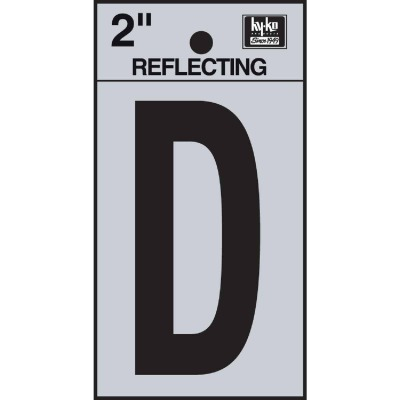 Hy-Ko Vinyl 2 In. Reflective Adhesive Letter, D