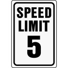 Hy-Ko Heavy-Duty Aluminum Sign, Speed Limit 5 Image 1