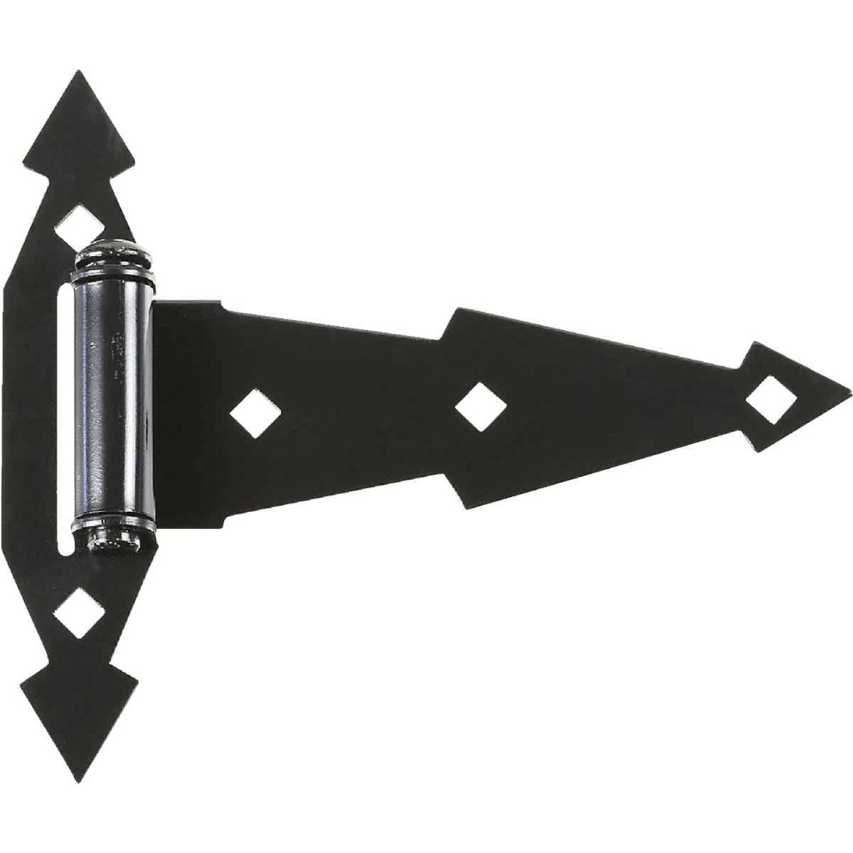 National Black 7 In. Steel Tee Hinge, (2-Pack) Image 1