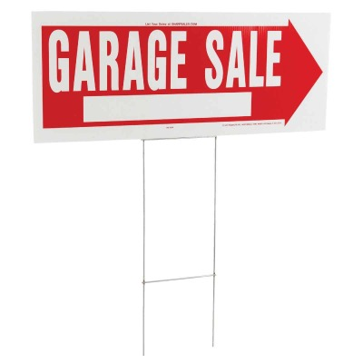 Hy-Ko Corrugated Plastic Sign, Garage Sale