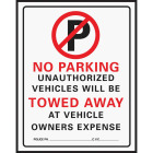 Hy-Ko Commercial Grade Plastic Sign, No Parking Image 1