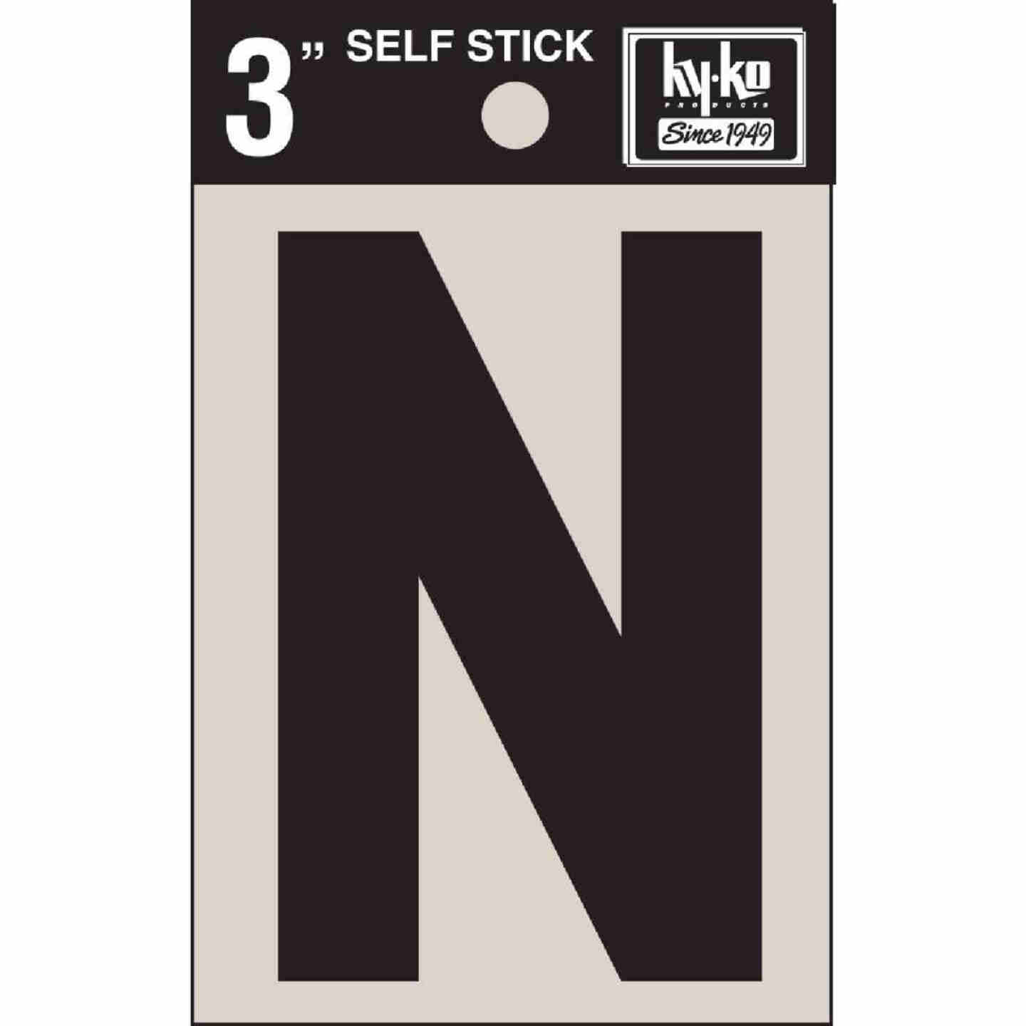 Hy-Ko Vinyl 3 In. Non-Reflective Adhesive Letter, N Image 1