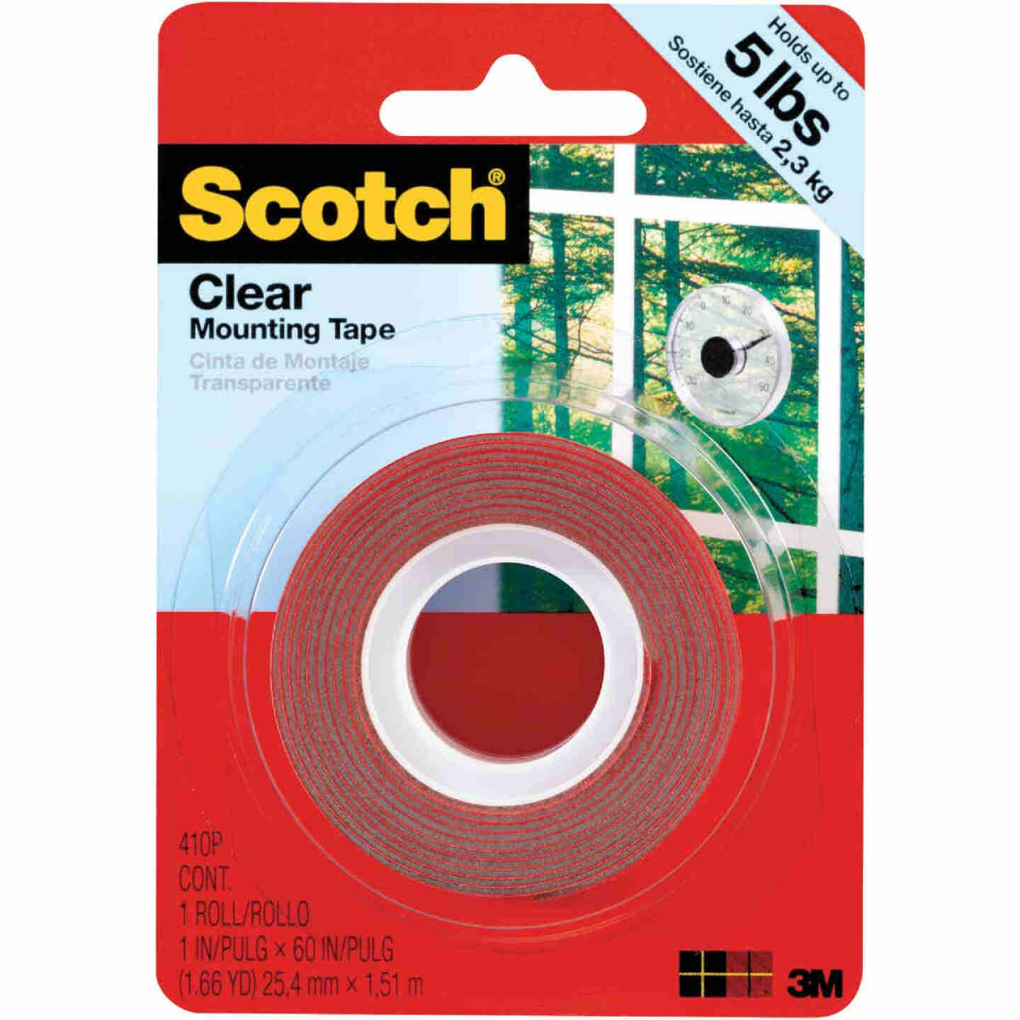 3M Scotch 1 In. x 60 In. Clear Double-Sided Mounting Tape (5 Lb. Capacity) Image 1