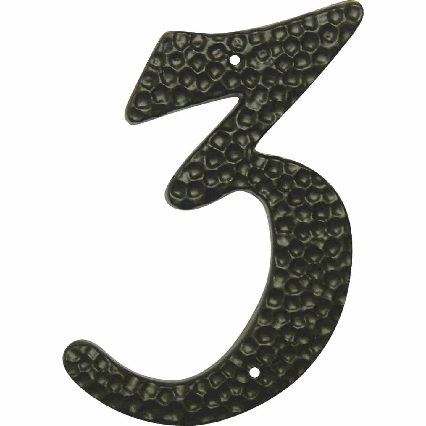 Hy-Ko 3-1/2 In. Black Hammered House Number Three Image 1