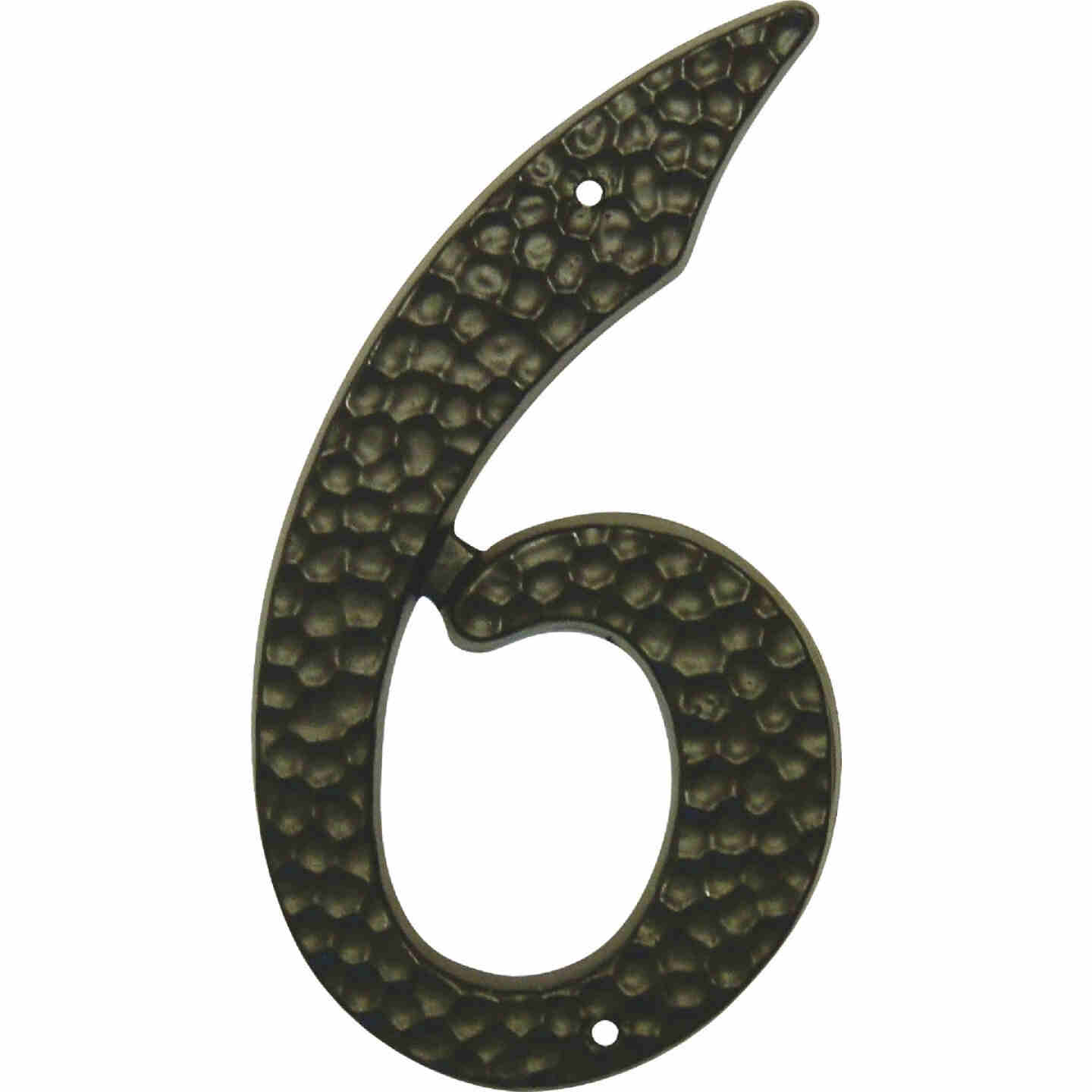 Hy-Ko 3-1/2 In. Black Hammered House Number Six Image 1