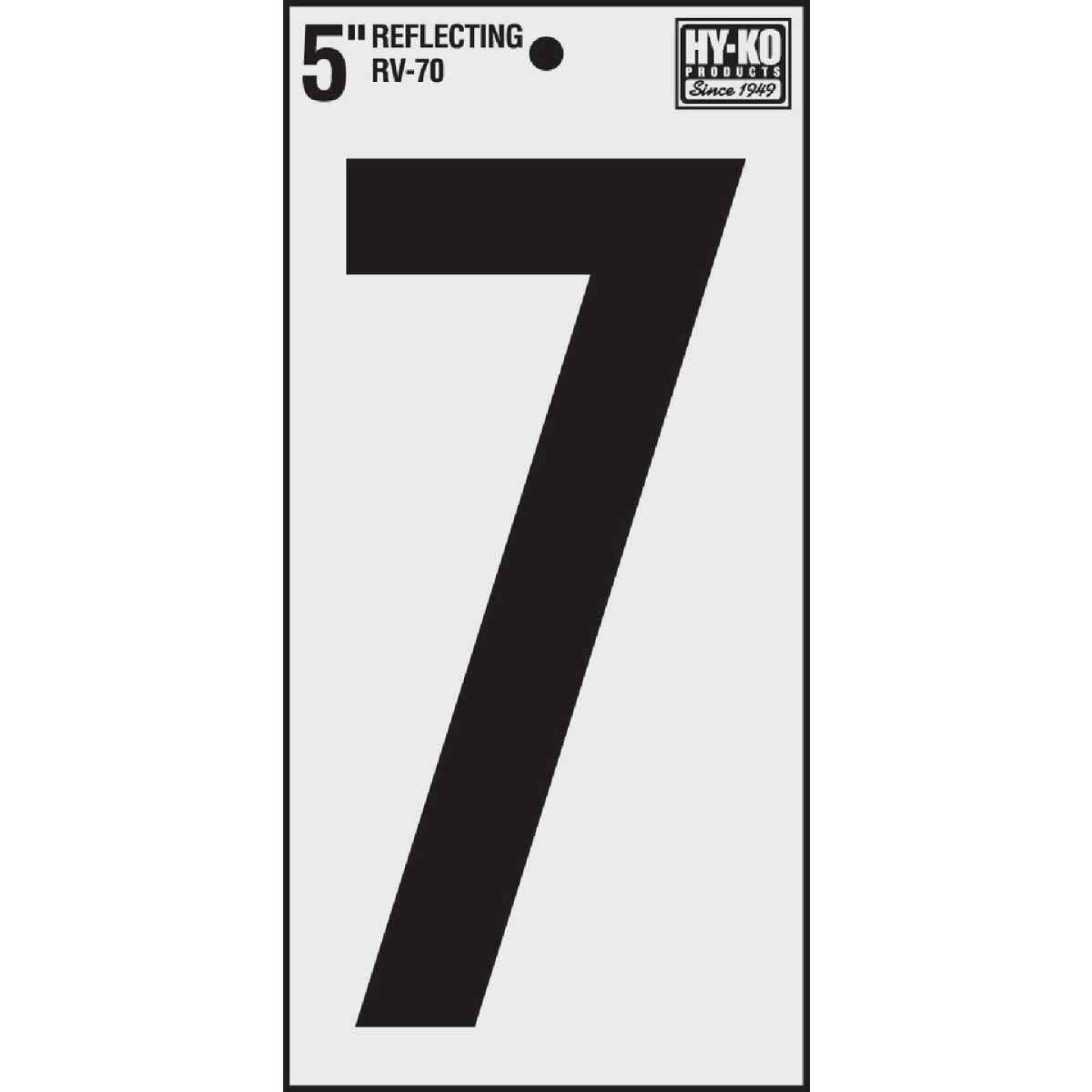 Hy-Ko Vinyl 5 In. Reflective Adhesive Number Seven Image 1