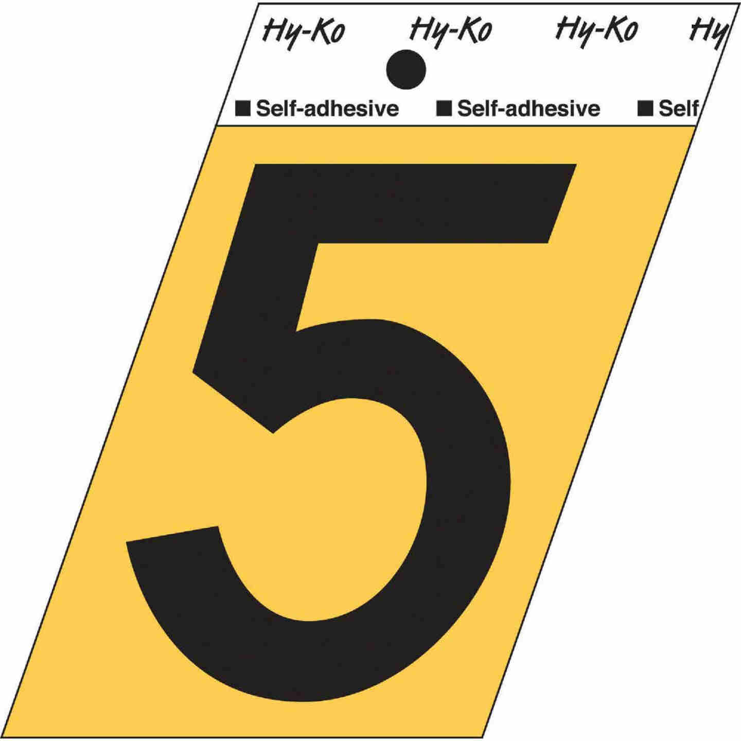 Hy-Ko Aluminum 3-1/2 In. Non-Reflective Adhesive Number Five Image 1