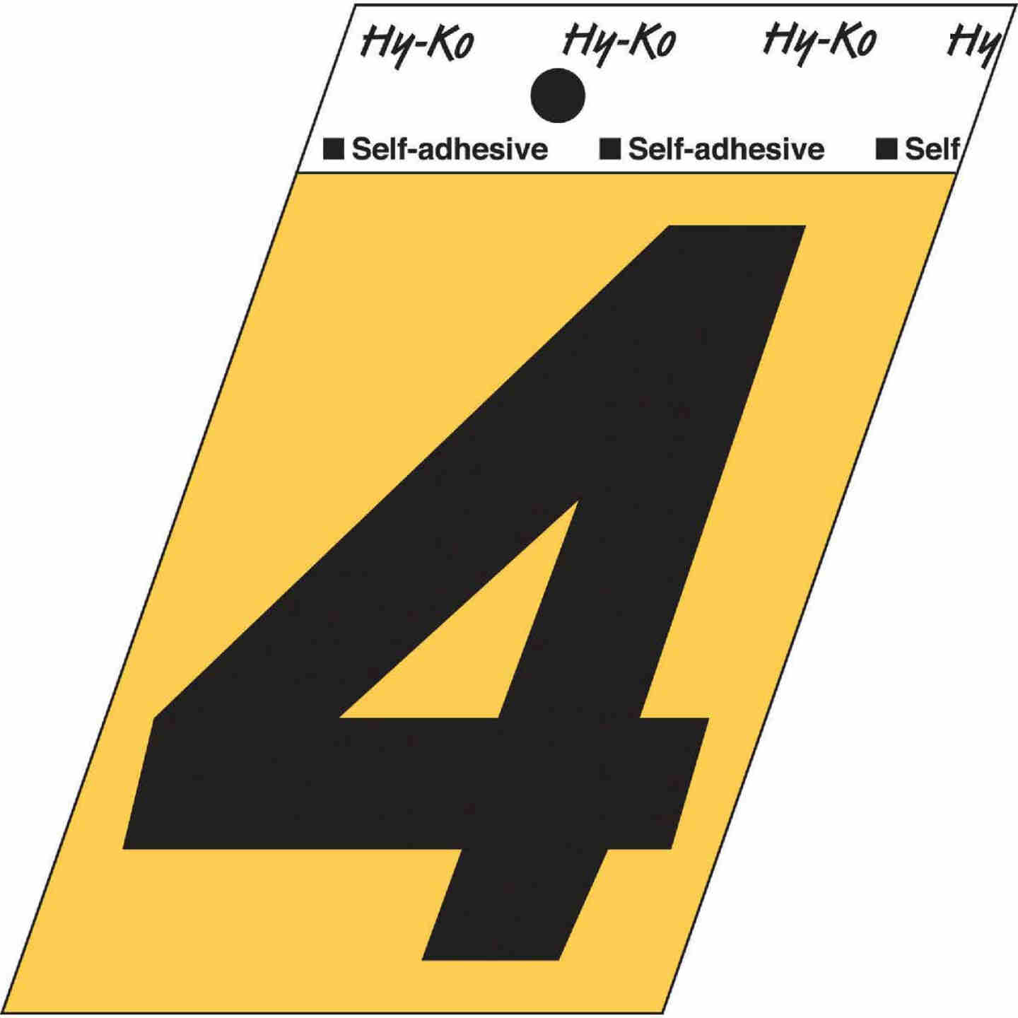 Hy-Ko Aluminum 3-1/2 In. Non-Reflective Adhesive Number Four Image 1