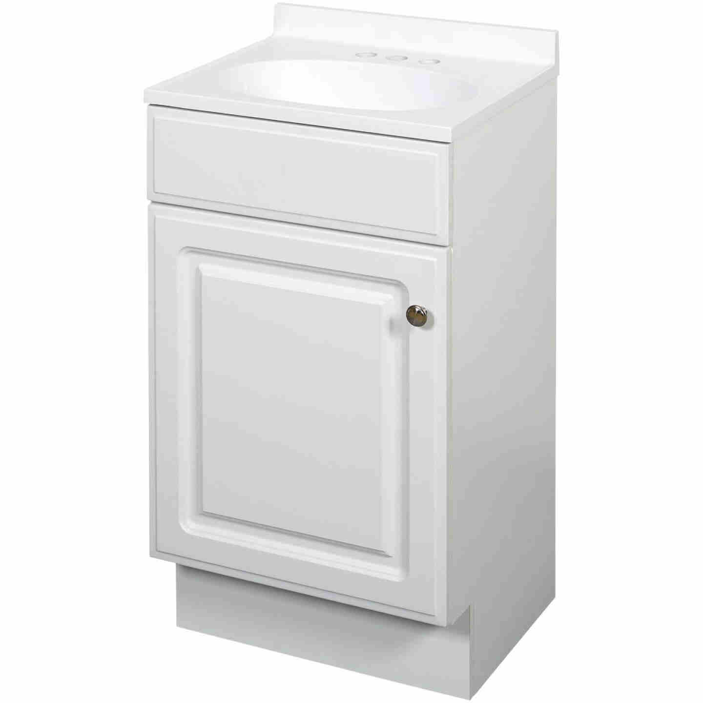 Zenith Zenna Home White 18 In. W x 35 In. H x 16 In. D Vanity with White Cultured Marble Top Image 1