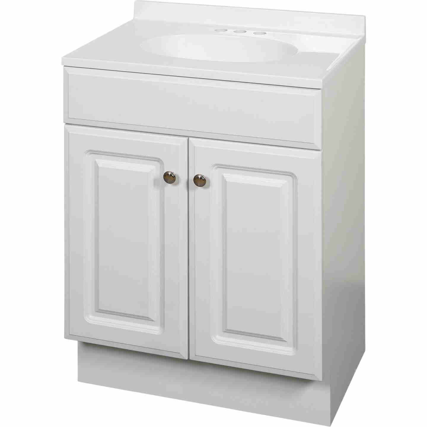 Zenith Zenna Home White 24 In. W x 35 In. H x 18 In. D Vanity with White Cultured Marble Top Image 1