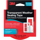 3M 1-1/2 In. x 30 Ft. Clear Weatherseal Tape Image 1