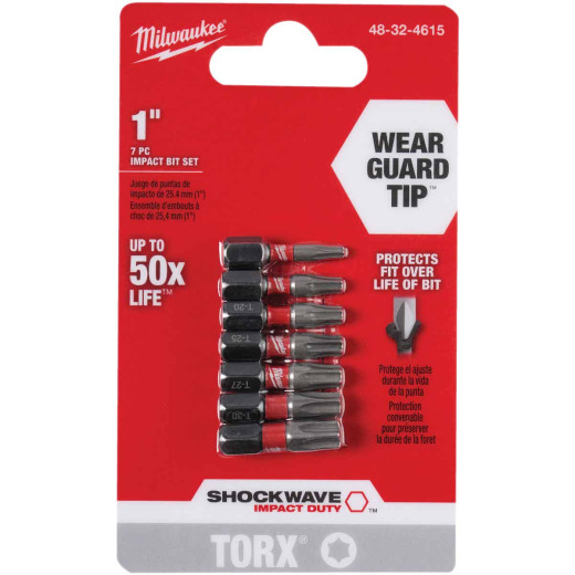 Milwaukee 7-Piece Impact Screwdriver Bit Set