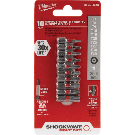 Milwaukee Shockwave Torx Security Insert Impact Screwdriver Bit Set (10-Piece)