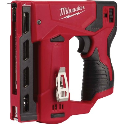 Milwaukee M12 12 Volt Lithium-Ion 3/8 In. Crown Cordless Finish Stapler (Bare Tool)