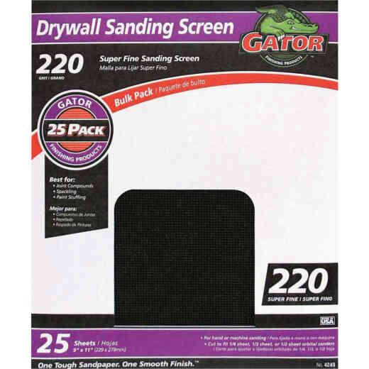Gator Grit 220 Grit 9 In. x 11 In. Drywall Sanding Screen (25 Pack)