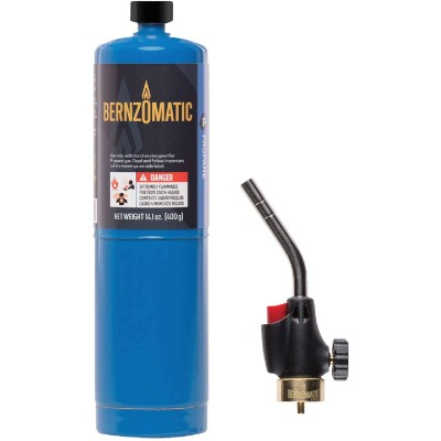 Bernzomatic Basic Propane Torch Kit with Built-In Ignition