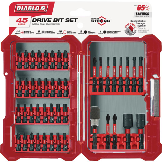 Diablo 45-Piece Impact Screwdriver Bit Set