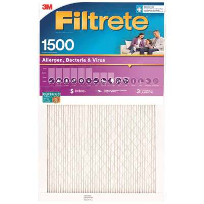 3M Filtrete 14 In. x 14 In. x 1 In. Ultra Allergen Healthy Living 1550 MPR Furnace Filter