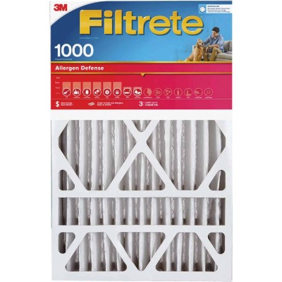 3M Filtrete 20 In. x 20 In. x 1 In. Allergen Defense 1000/1085 MPR Furnace Filter (2-Pack)