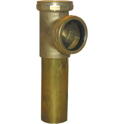 Lasco 1-1/2 In. Rough Brass End Outlet Tee