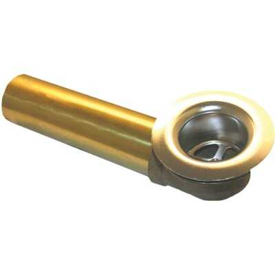 Lasco 1-1/2 In. Brass Overflow and Waste Shoe