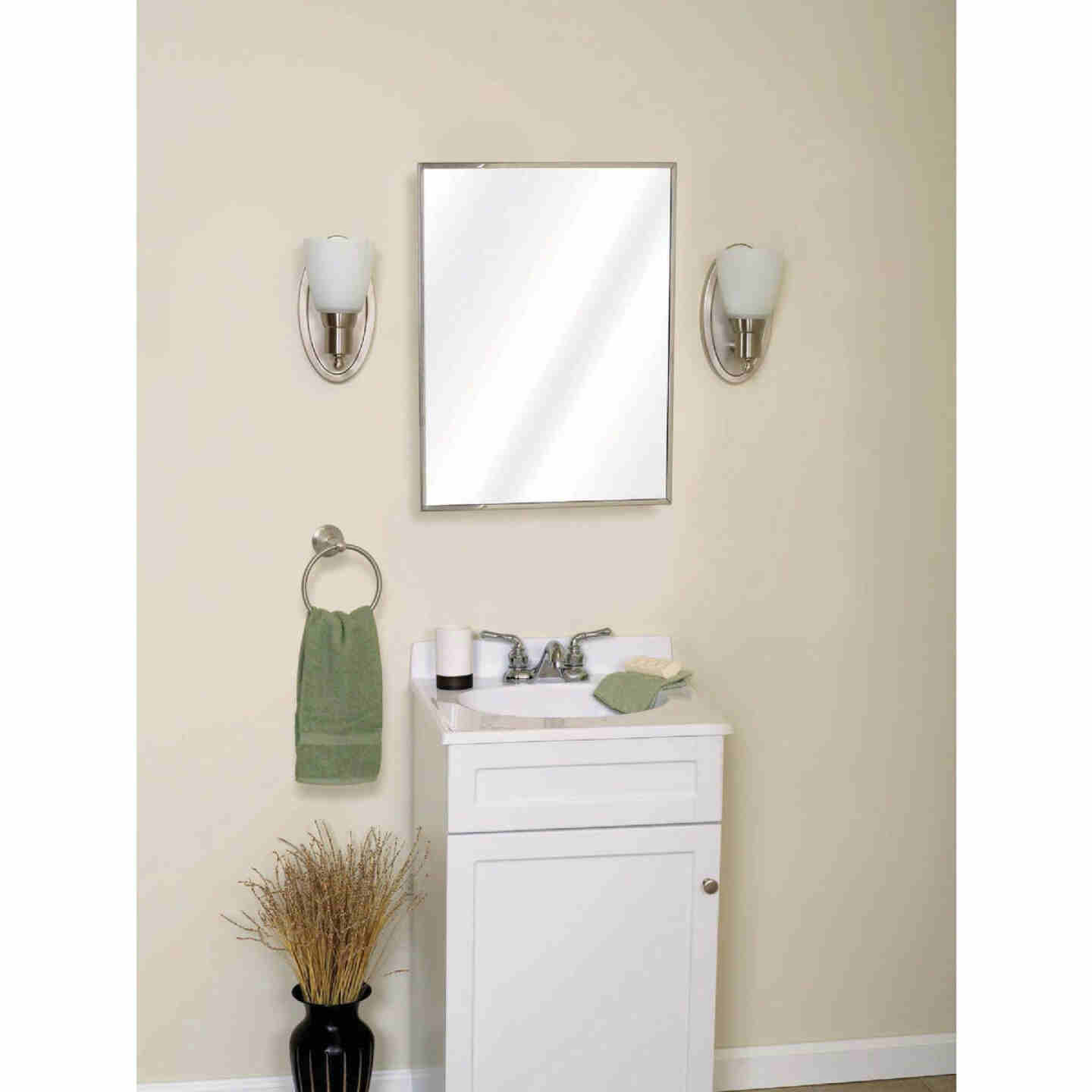 Zenith Stainless Steel 16-1/8 In. W x 20-1/8 In. H x 3-1/4 In. D Single Mirror Surface/Recess Mount Medicine Cabinet Image 2