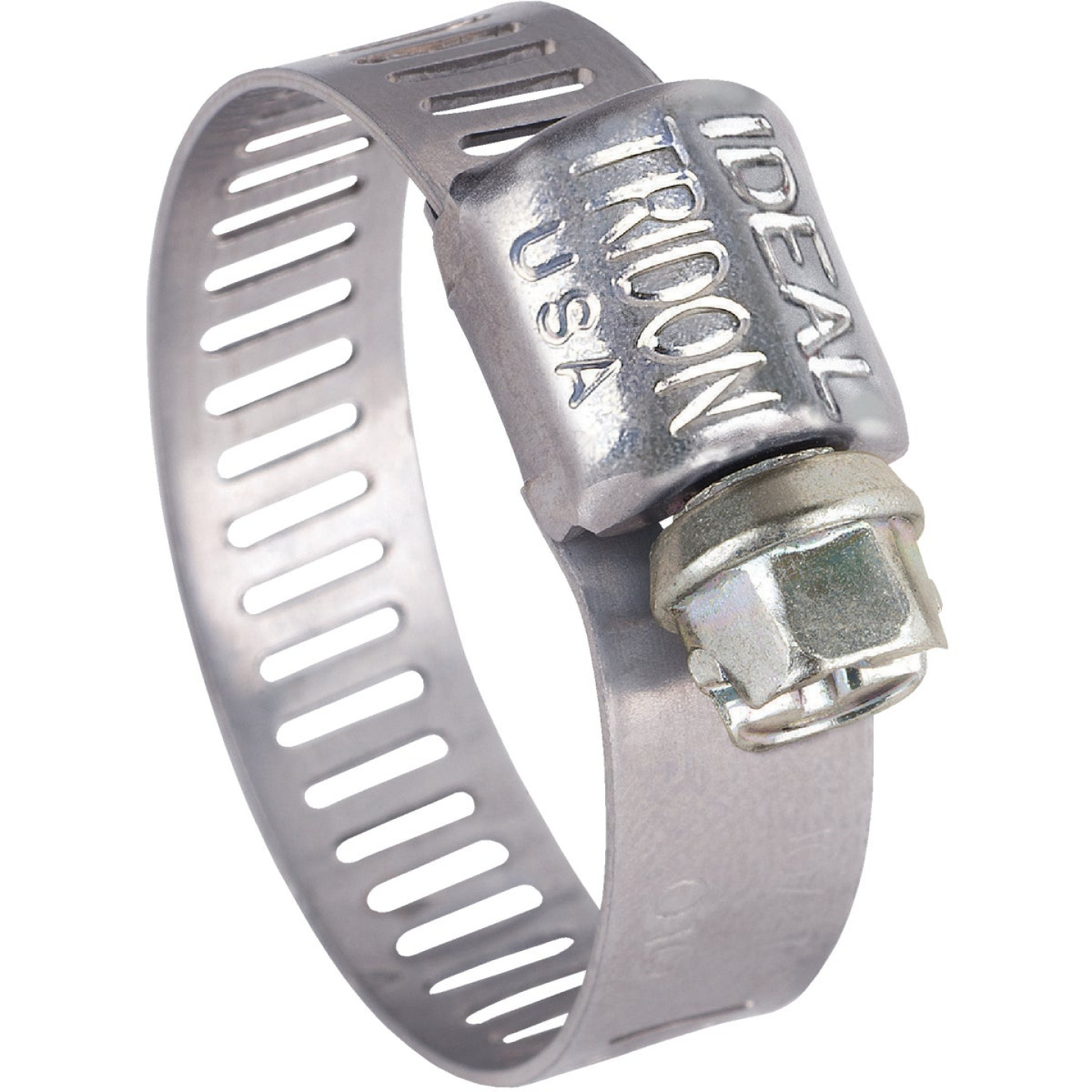 Ideal 5/16 In. - 5/8 In. All Stainless Steel Micro-Gear Hose Clamp Image 1