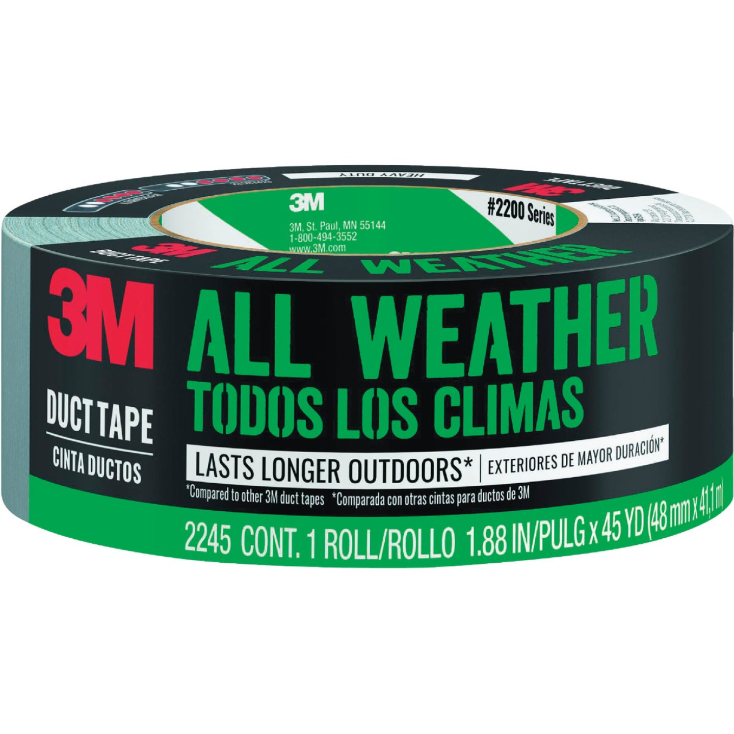 Scotch Tough 1.88 In. x 45 Yd. All-Weather Duct Tape, Silver Image 1