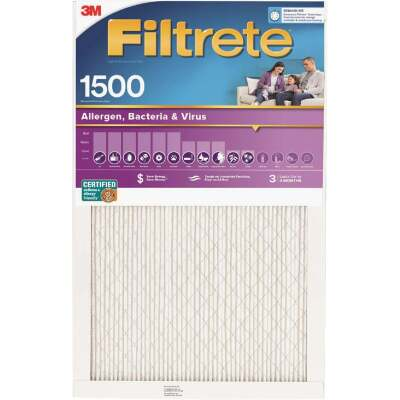 3M Filtrete 12 In. x 12 In. x 1 In. Ultra Allergen Healthy Living 1550 MPR Furnace Filter
