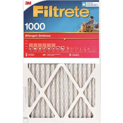 3M Filtrete 24 In. x 24 In. x 1 In. Allergen Defense 1000/1085 MPR Furnace Filter