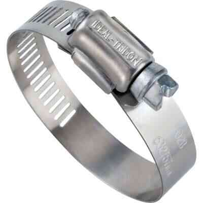 Ideal 11/16 In. - 1-1/2 In. 57 Stainless Steel Hose Clamp with Zinc-Plated Carbon Steel Screw