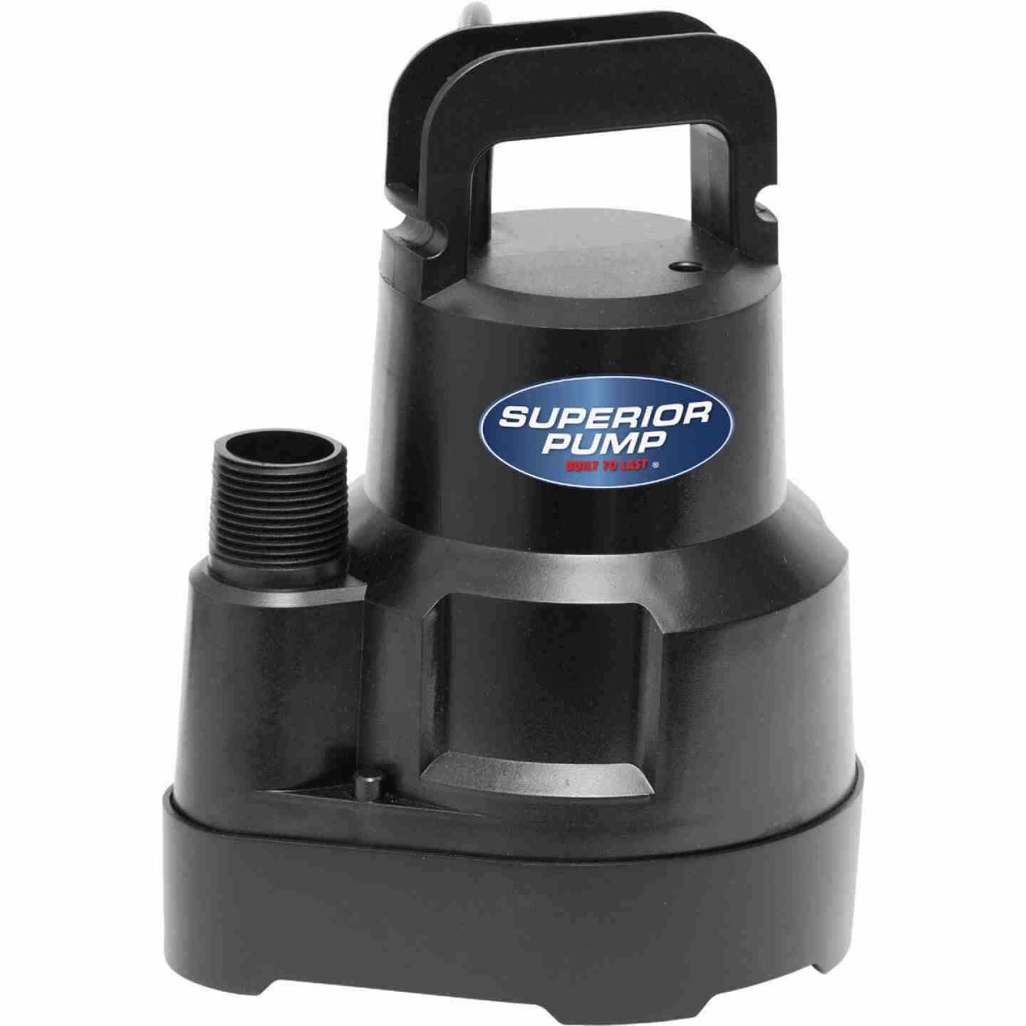 Superior Pump 1/6 HP 1920 GPH Oil-Free Submersible Utility Pump Image 4