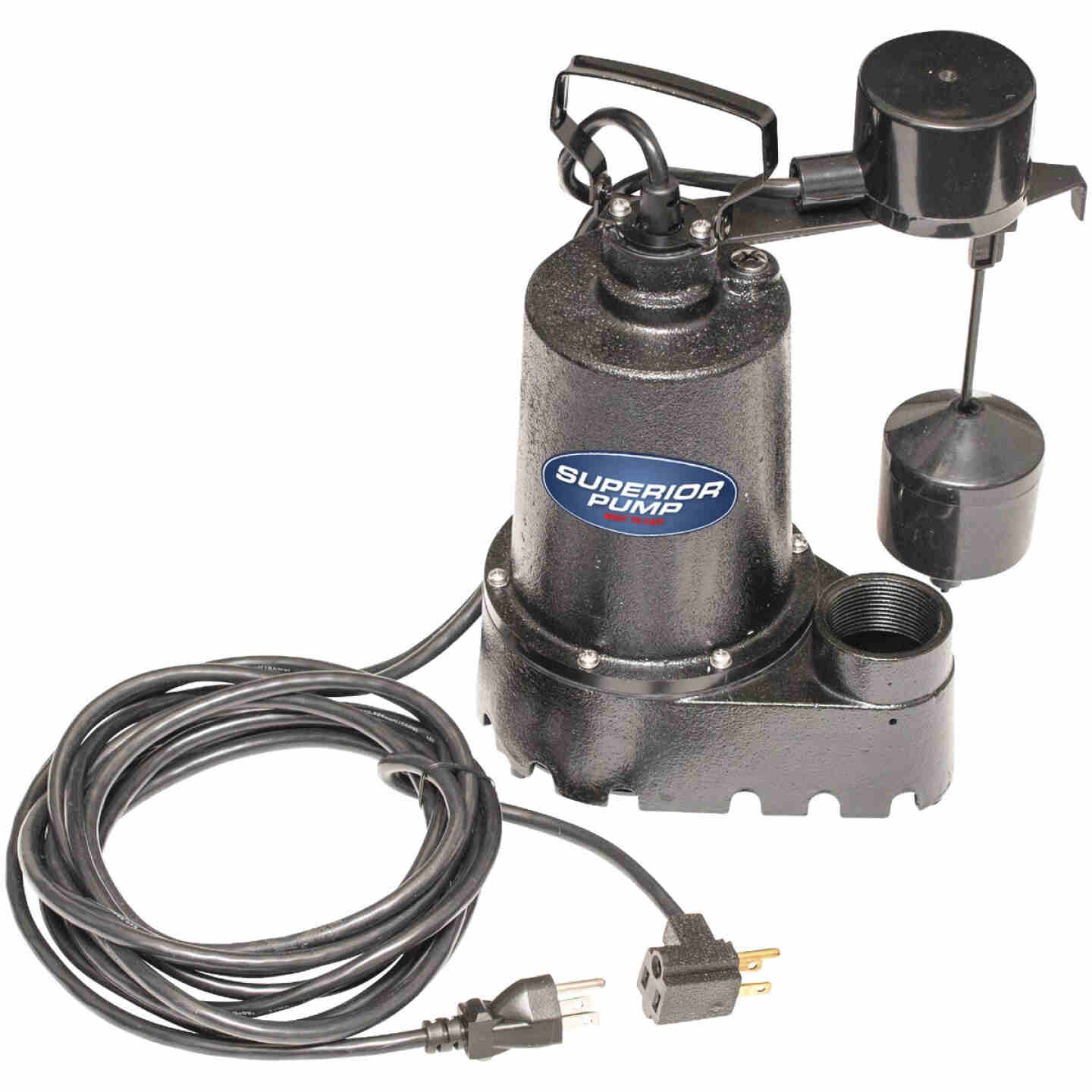 Superior Pump 1/3 HP Cast Iron Submersible Sump Pump with Vertical Float Switch & Stainless Steel Impeller Image 4