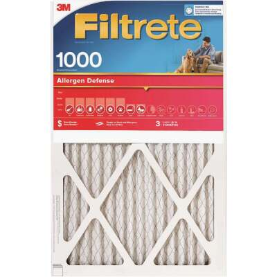 3M Filtrete 12 In. x 20 In. x 1 In. Allergen Defense 1000/1085 MPR Furnace Filter