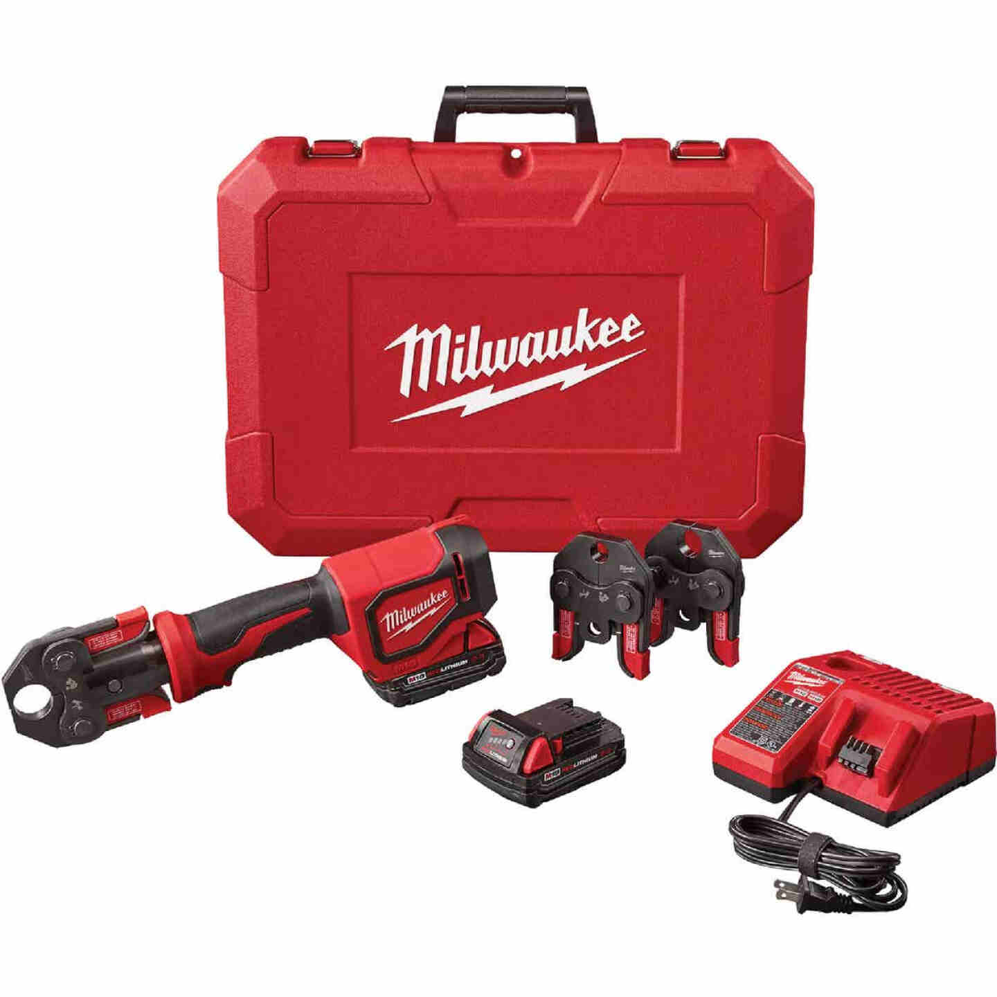 Milwaukee M12 12 Volt Force Logic Lithium-Ion Cordless Press Tool Kit (3 Jaws Included) Image 1